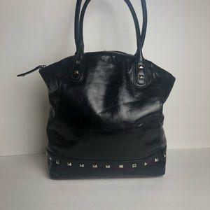 Cynthia Rowley black leather shoulder bag